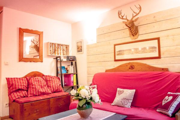 salon - appartement à louer residence 208 pics d'aran -location gîte luchon -pyrénées - T3 4 personnes